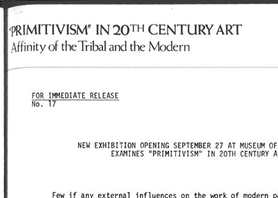 Primitivism Press Release, Reading List @ MoMa, selected by Jaret Vadera